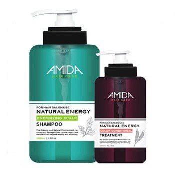 Amida蜜拉 平衡去脂洗髮精1000ml+角質蛋白護髮素250ml