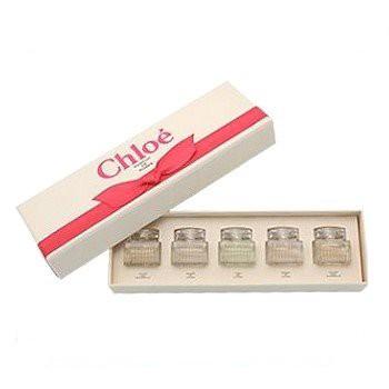 【限量禮盒】Chloe 經典小香禮盒(同名淡香水5MLX2 / 淡香精5MLX2 / 水漾玫瑰5MLX1)