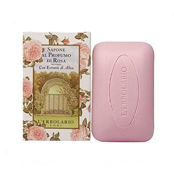 L ERBOLARIO 蕾莉歐 玫瑰香氛-玫瑰植物香氛皂100g