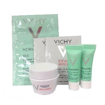 【下殺.-限量加購】Vichy薇姿-抗痘美白旅行組(淨化泥+多效精華乳+透白水面膜+透白隔離乳)