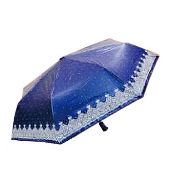 【限量加購】 Feeling Cool 飛蘭蔻 愛心蕾絲色膠布-58玻纖自動開收雨傘(多色供選)-蝴蝶/星空(圖案隨機)