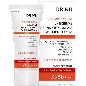 【新上架】DR.WU 達爾膚 極效全能防曬霜SPF50 30ML