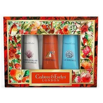 【新上架-限量禮盒】Crabtree & Evelyn瑰珀翠-護手霜禮盒25g*3(園藝/海島傳奇/噴泉)