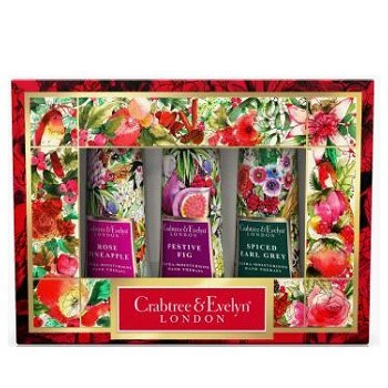 【新上架-限量禮盒】Crabtree & Evelyn瑰珀翠-護手霜禮盒25g*3(鳳梨/節慶/伯爵茶)