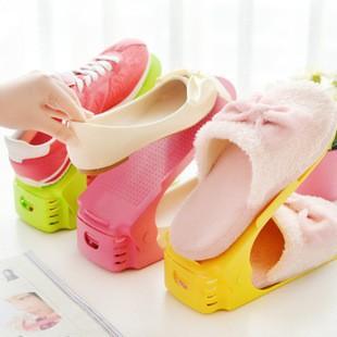 【新上架】簡易可調式收納鞋架(多色供選)